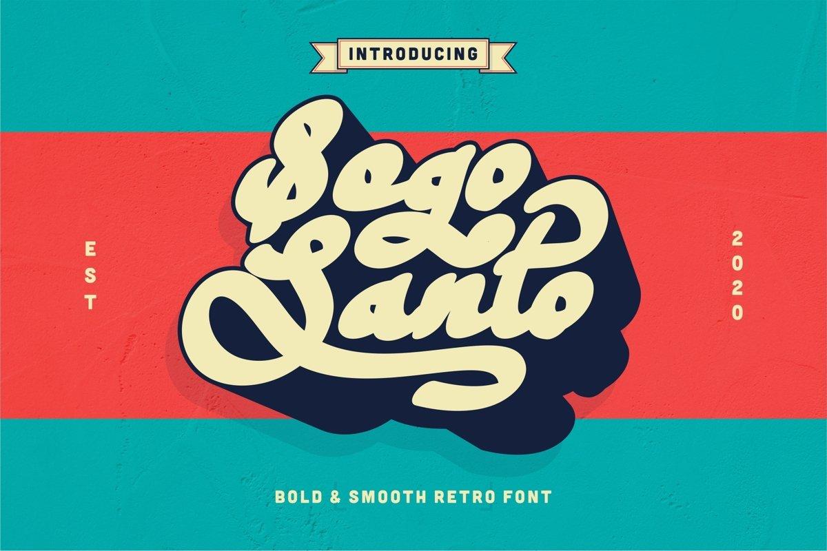 Sogo Santo - Bold & Smooth Retro Font example image 1