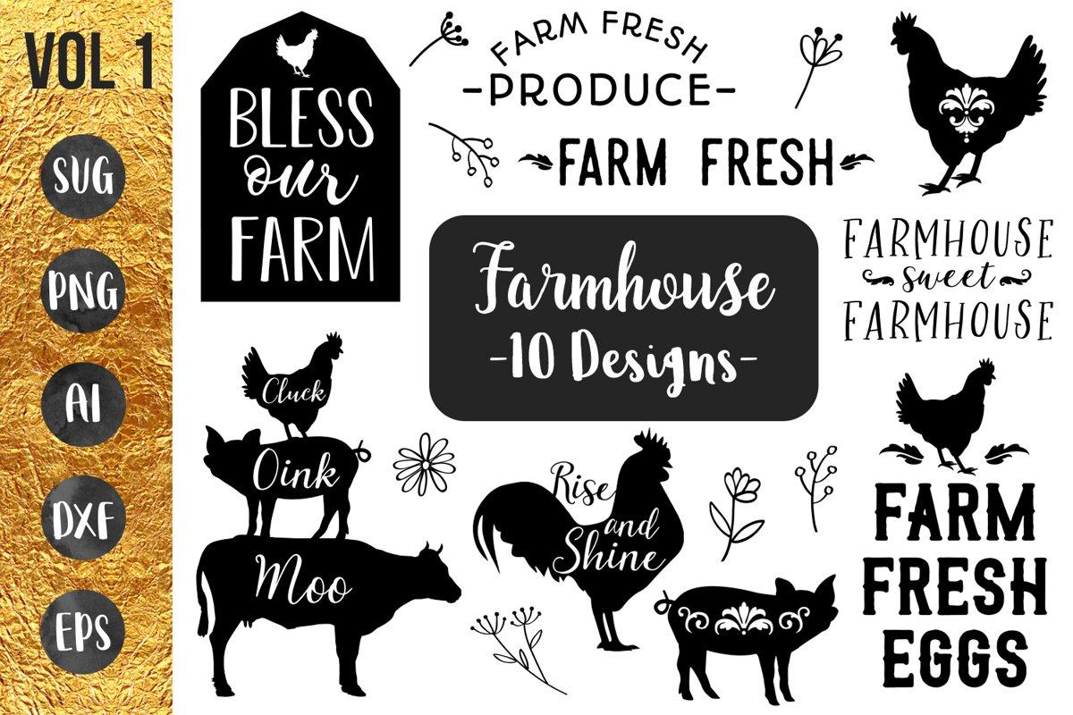Download FARMHOUSE BUNDLE- 10 designs - svg files Cricut Silhouette ...