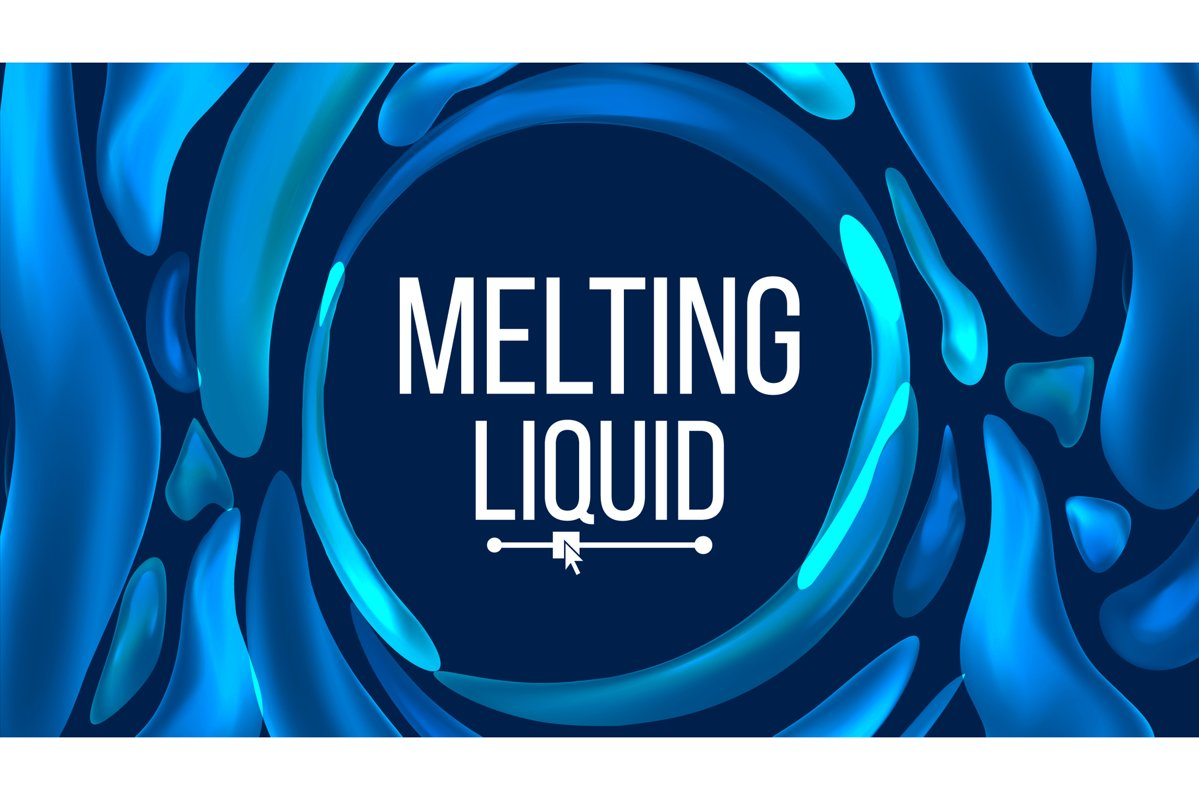 Liquid Background Vector. Trendy Gradients. Liquid 3D example image 1