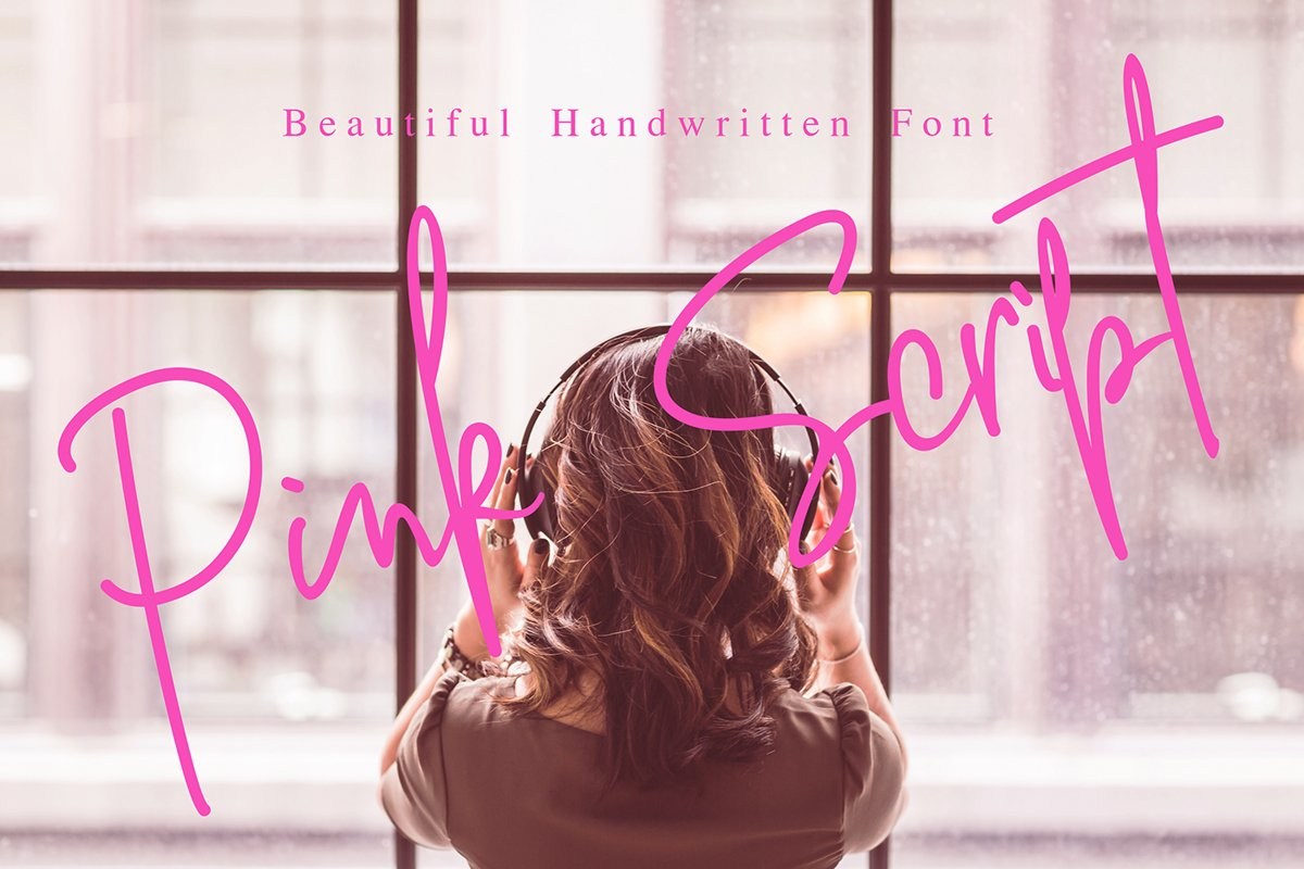 Pink Script - Beautiful Signature Font example image 1