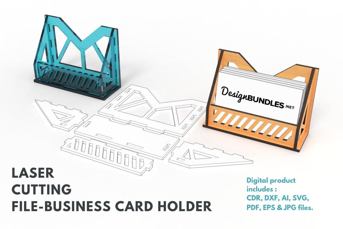 Download Business Card Holder No 6 Laser Cutting File