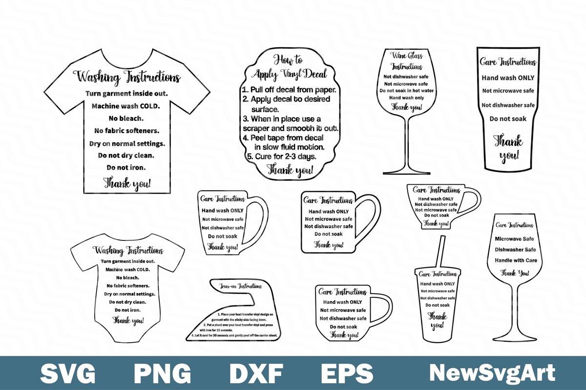 Care Card Bundle SVG 12 Designs example image 1