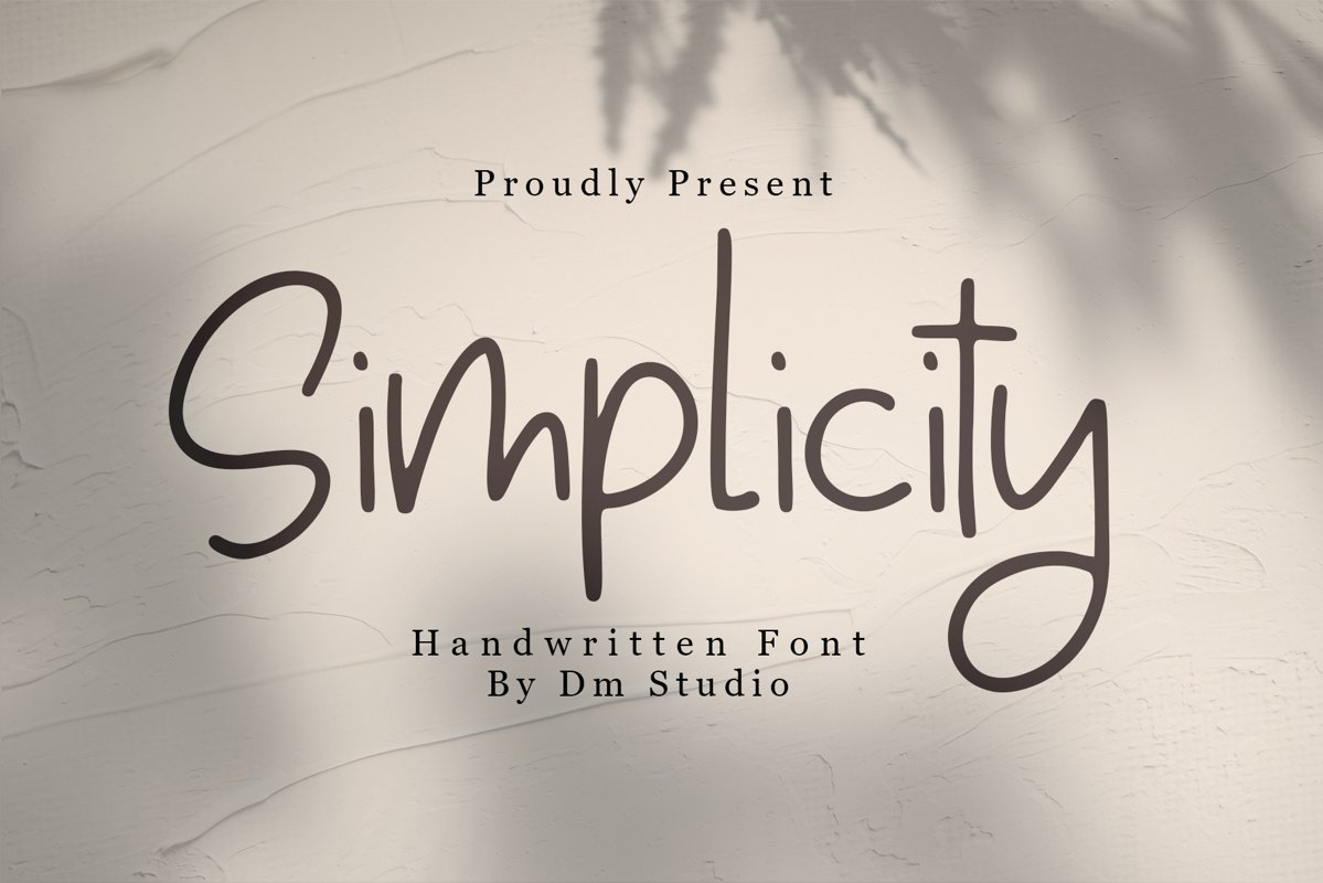 Simplicity - Handwritten Font example image 1