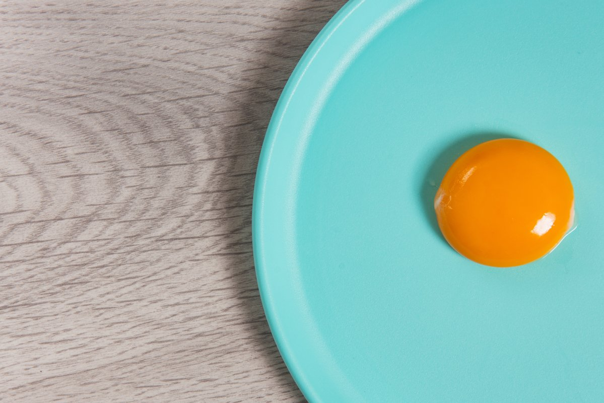 egg yolk on plate example image 1
