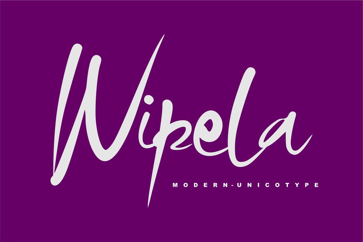 Wipela   Modern Unicotype Font example image 1