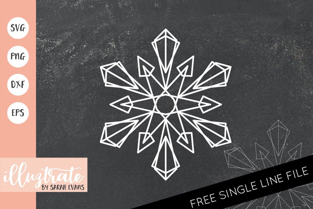 Snowflake Mandala SVG | Christmas Mandala SVG Cut File example image 1