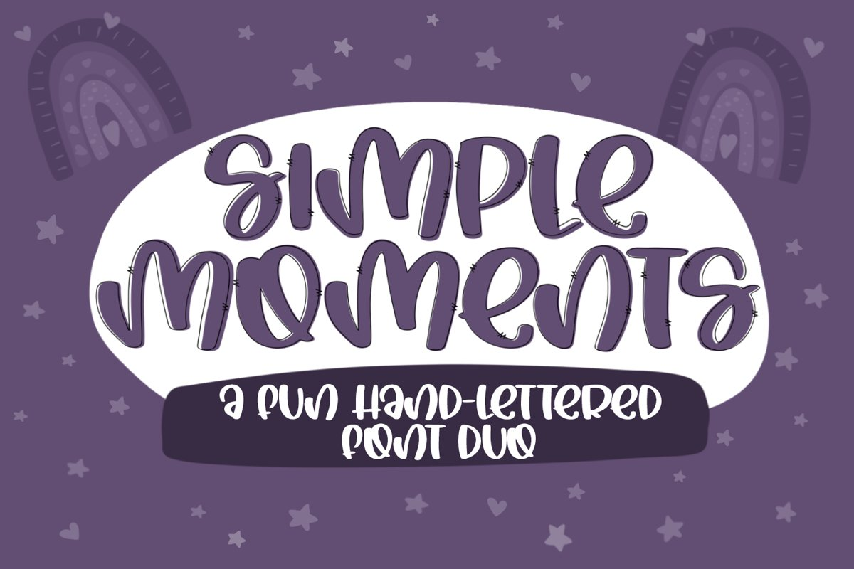 Simple Moments - A Fun Handlettered Font Duo example image 1