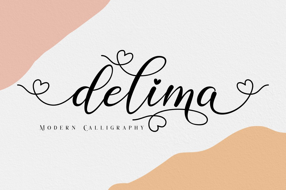 Delima // Modern Calligraphy example image 1