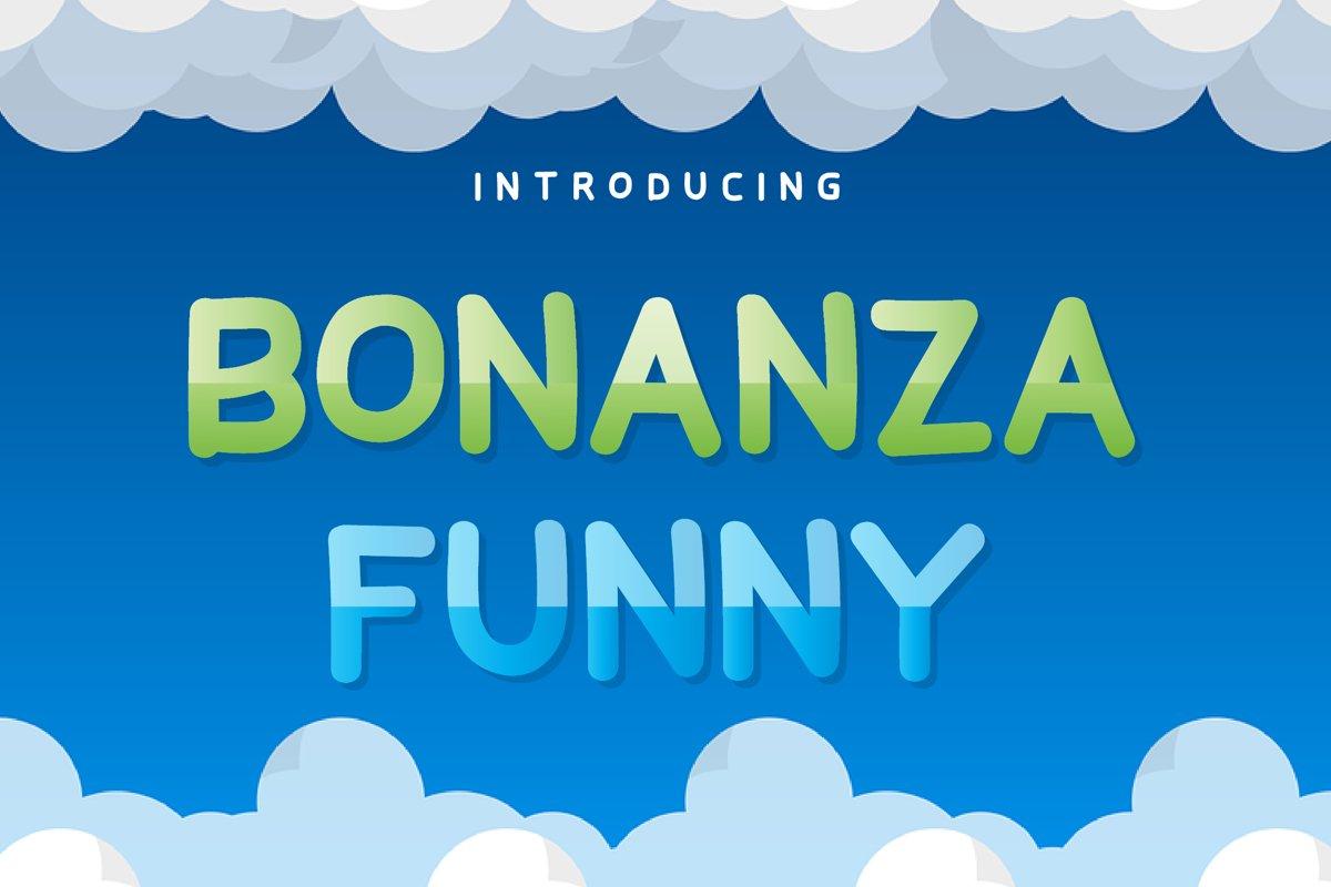 Bonanza Funny Display Font example image 1