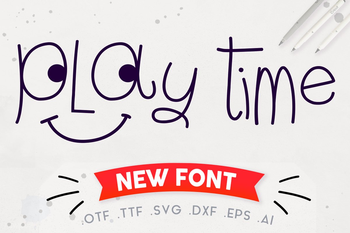 Play Time Script - A Fun and Quirky Font   Open Path Font example image 1