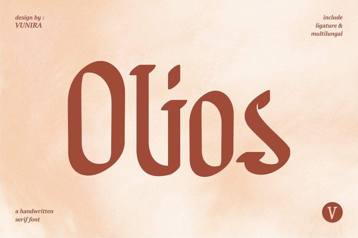 Olios | Handwritten Serif Font example image 1