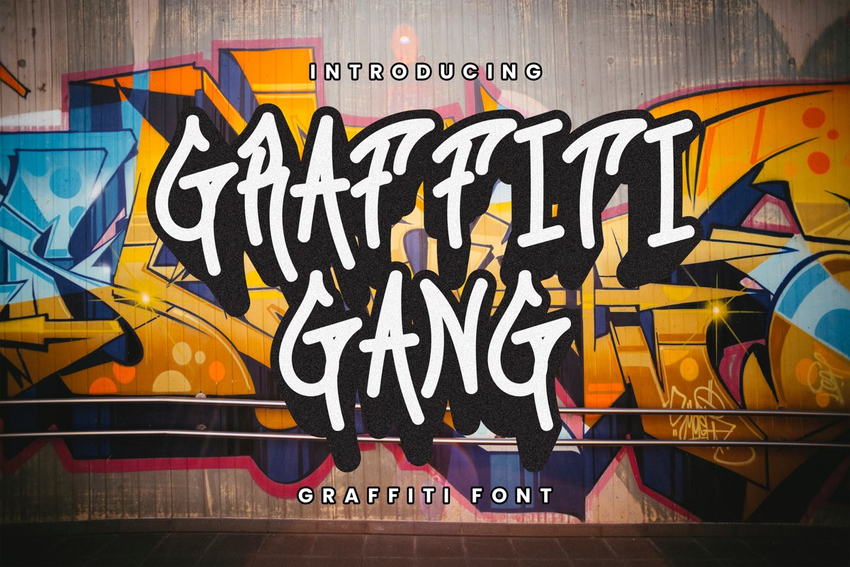 Graffiti Gang Font example image 1