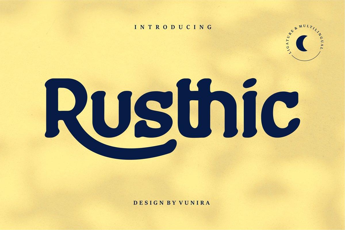 Rusthic | Sans-Serif Font example image 1
