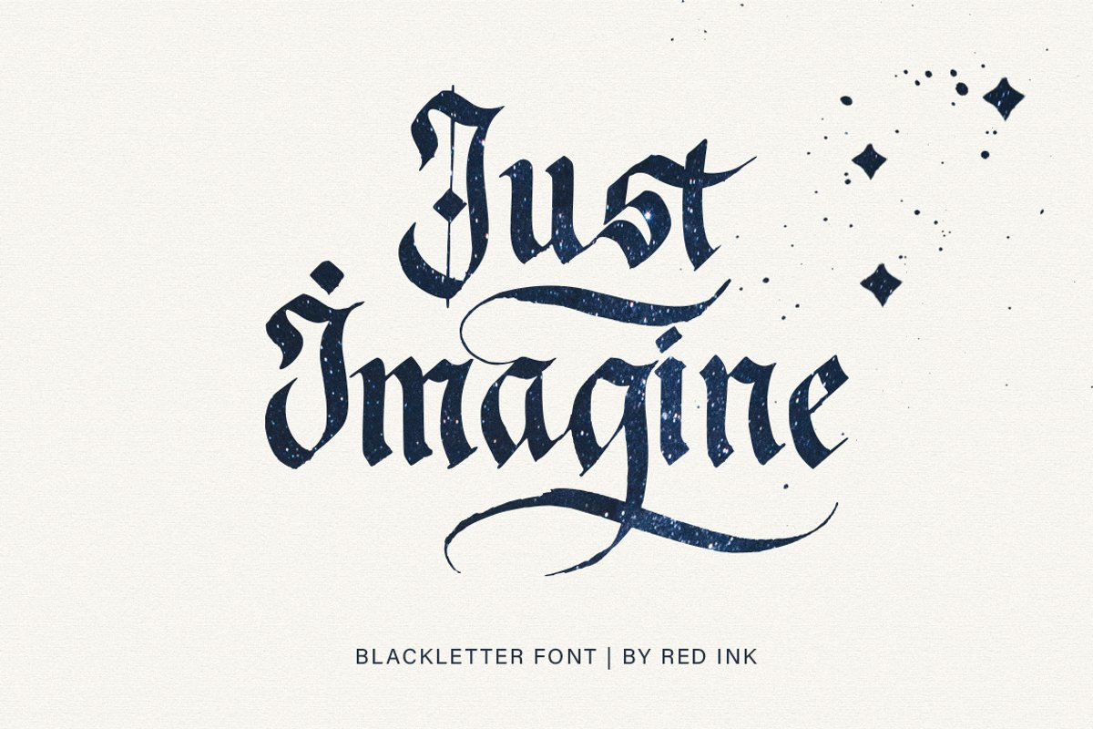 Just Imagine. Blackletter Font. example image 1