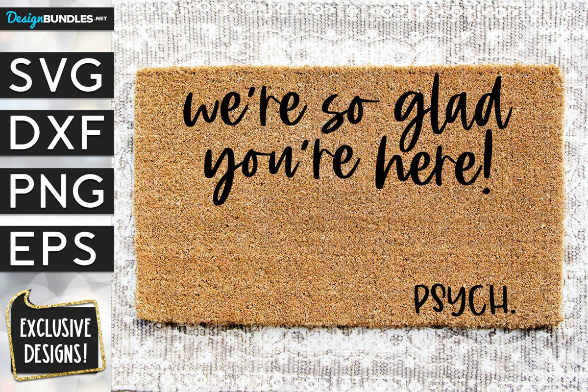 So Glad You're Here Psych SVG DXF PNG EPS example image 1