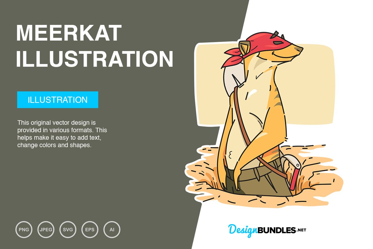 Merkat Vector Illustration example image 1