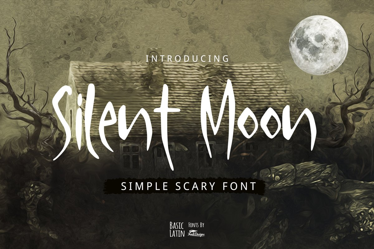 Silent Moon Scary Font example image 1