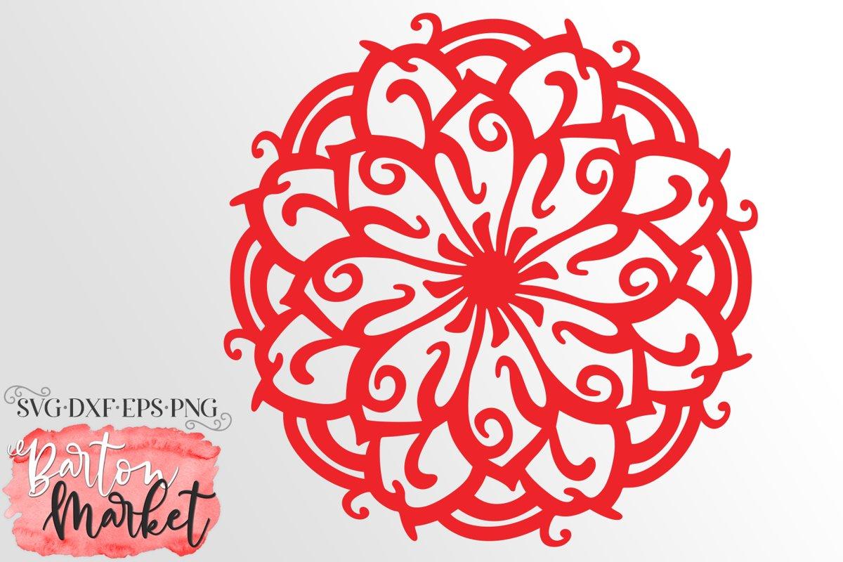 Zen Flower Mandala SVG DXF EPS PNG example image 1