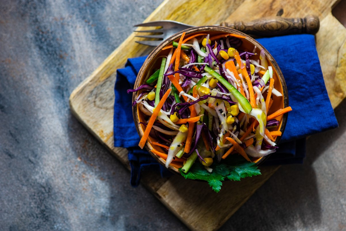 Healthy food concept with organic vegetables in salad example image 1