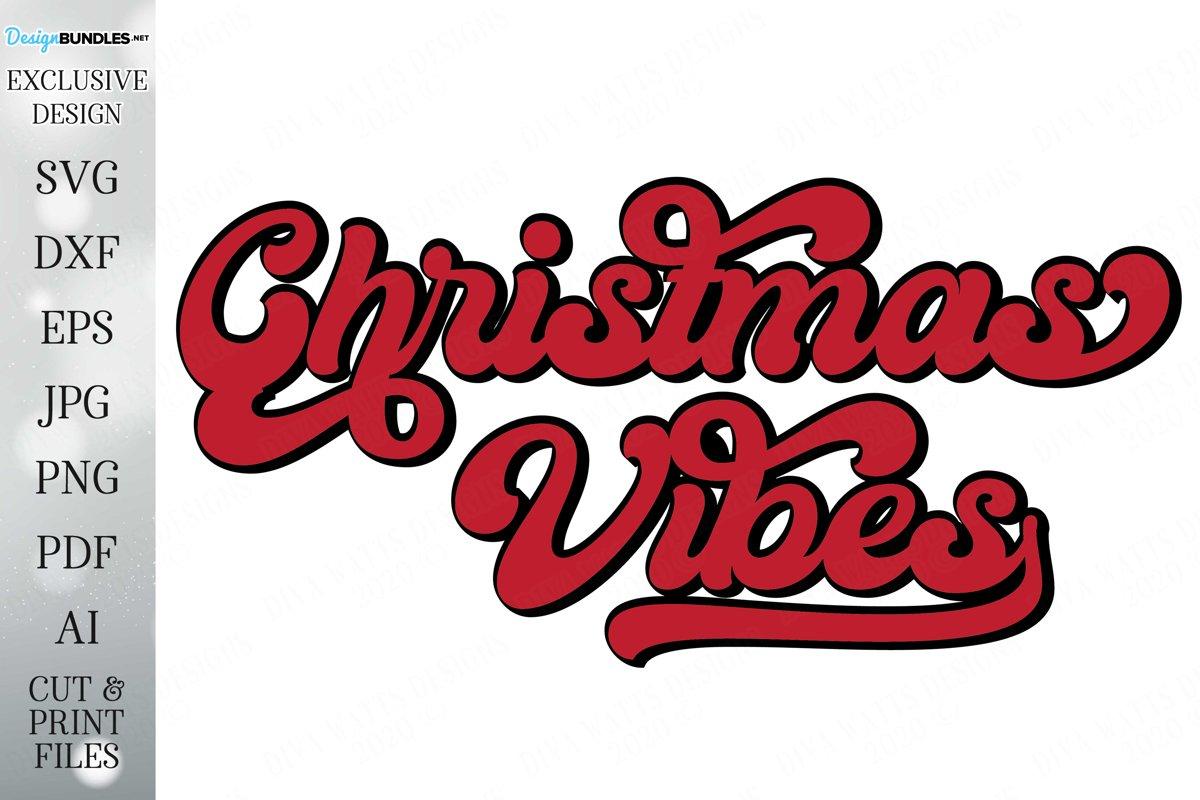 Christmas Vibes - Retro Design - Christmas Design example image 1