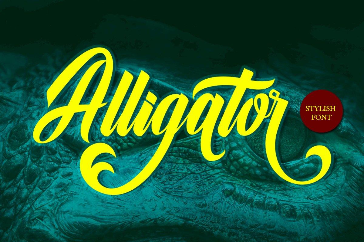 Alligator Font example image 1