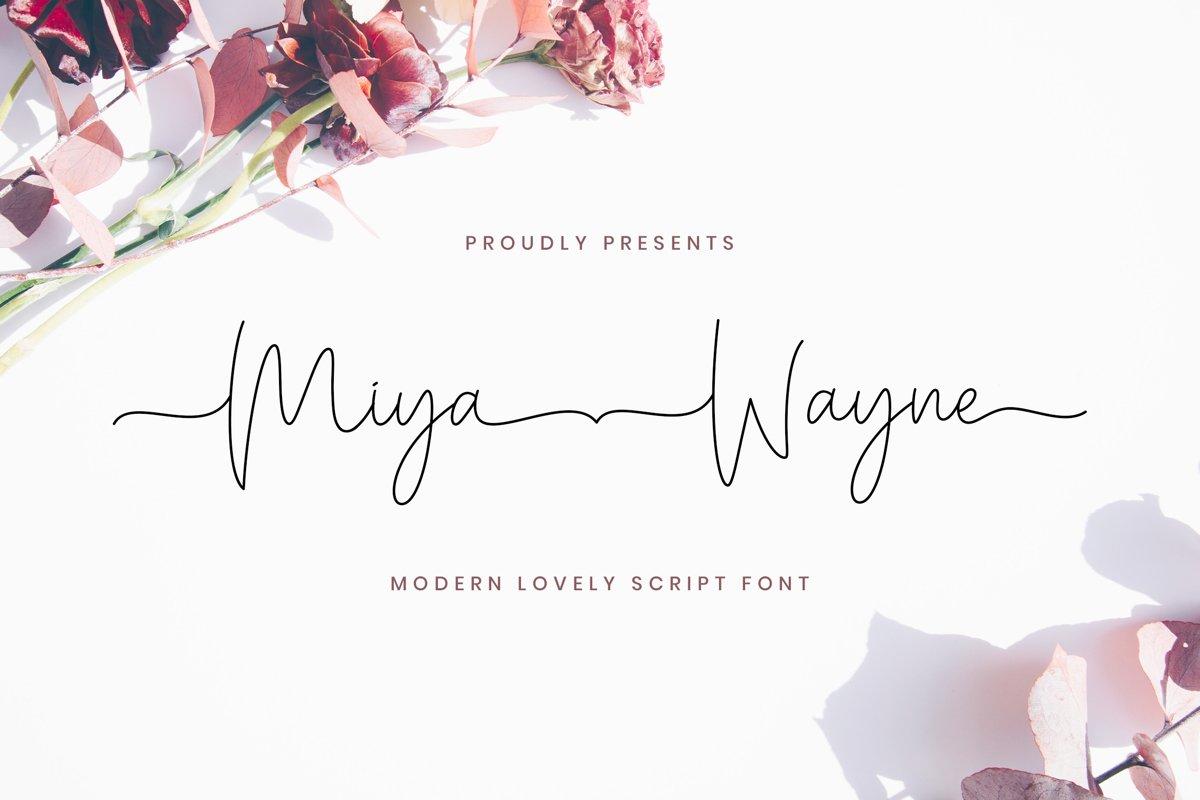 Miya Wayne - Modern Lovely Script Font example image 1