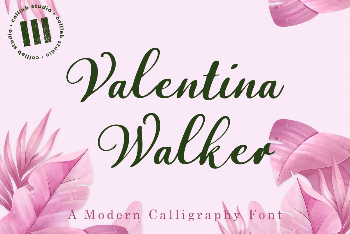 Valentina Walker - A Modern Calligraphy Font example image 1