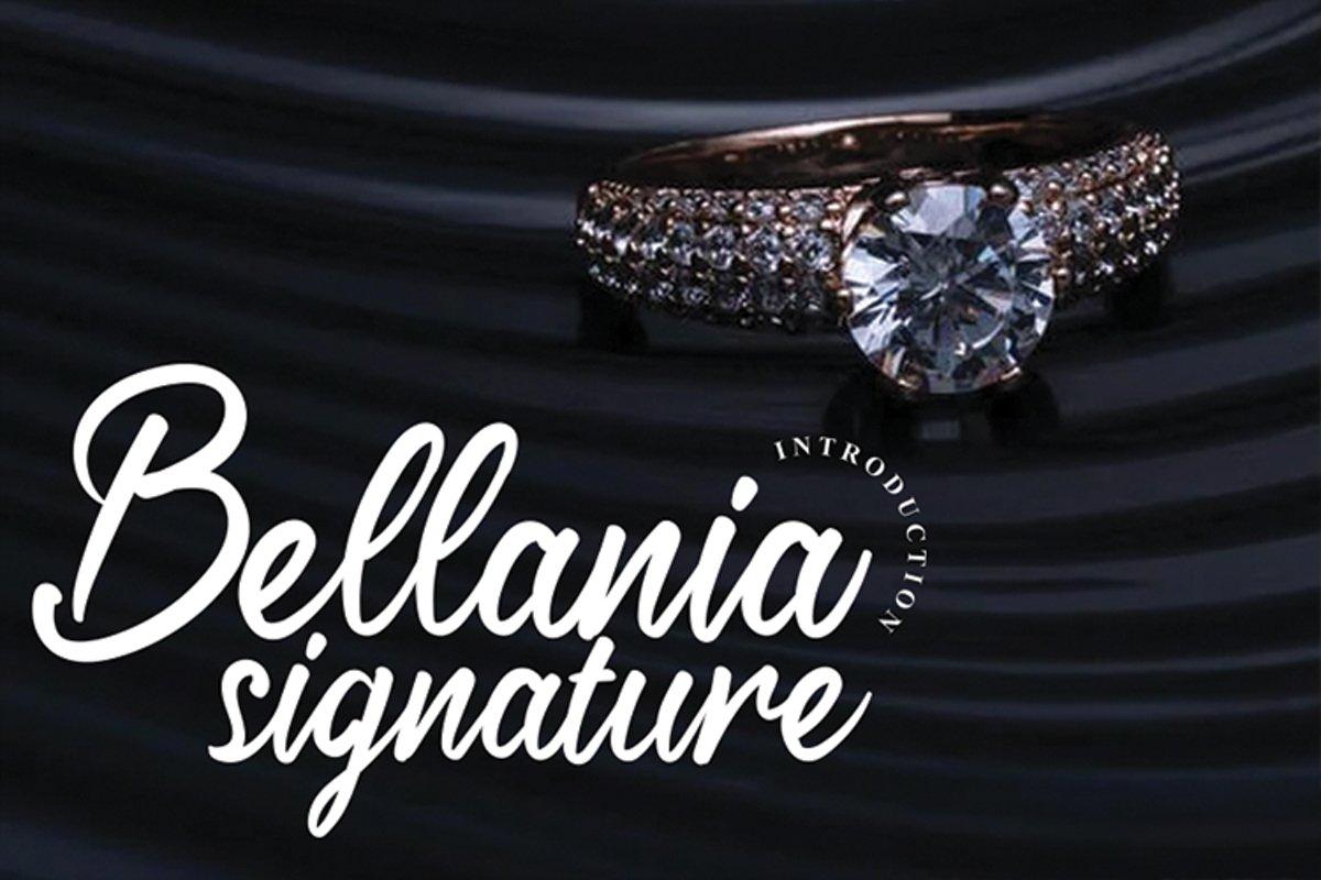Bellania signature example image 1