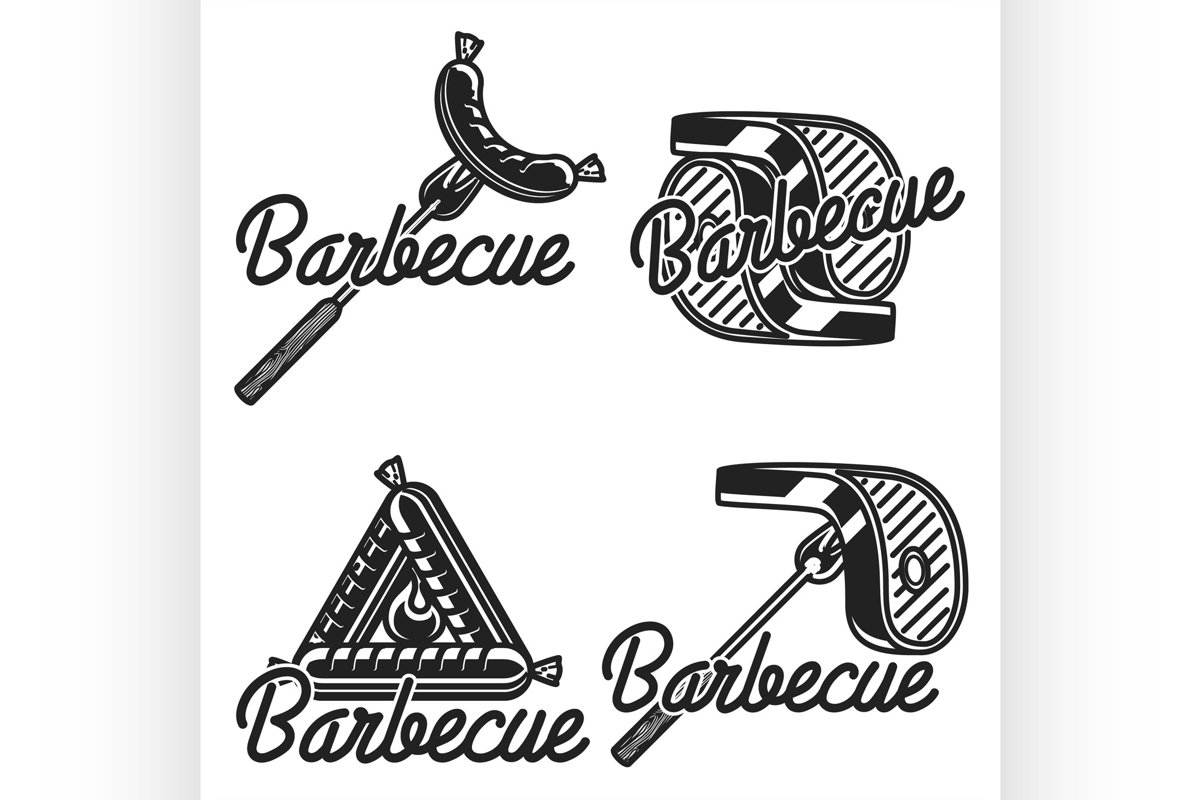 Vintage barbecue emblems example image 1