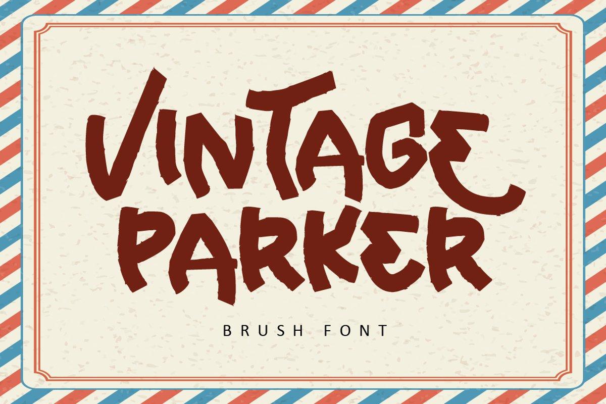 Vintage Parker - Brush Font example image 1