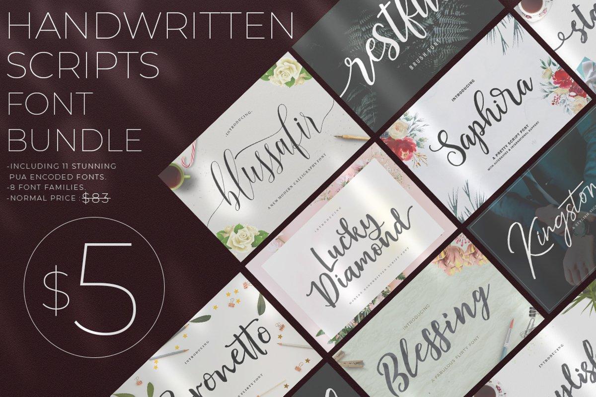 Handwritten Scripts Font Bundle From Great Studio example image 1
