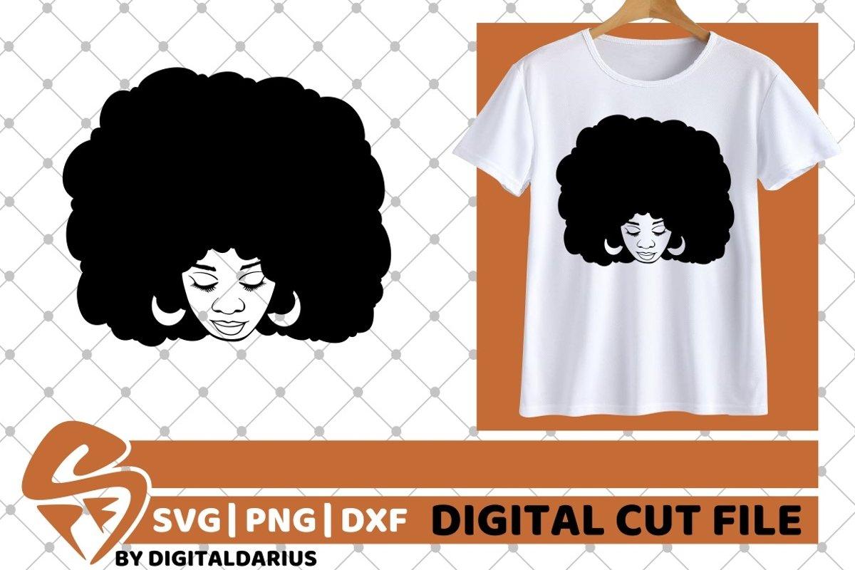 Black Woman svg, Natural Hair svg, Melanin svg, Black Queen example image 1