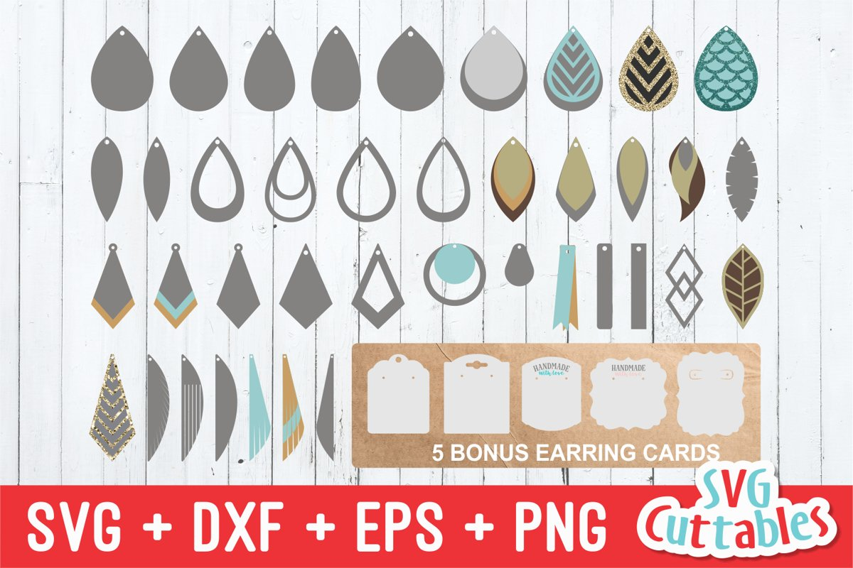 Earring Bundle | SVG Cut Files example image 1