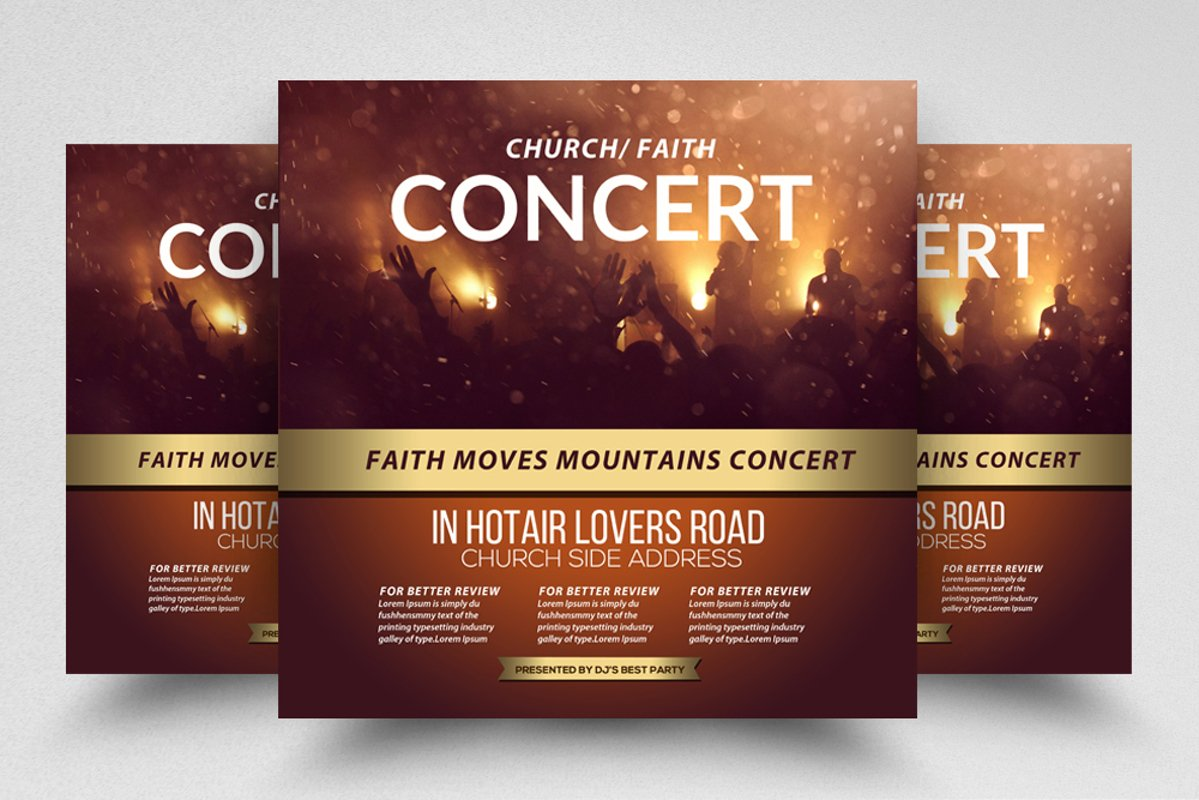 Church Concert Event Square Flyer/Poster example image 1