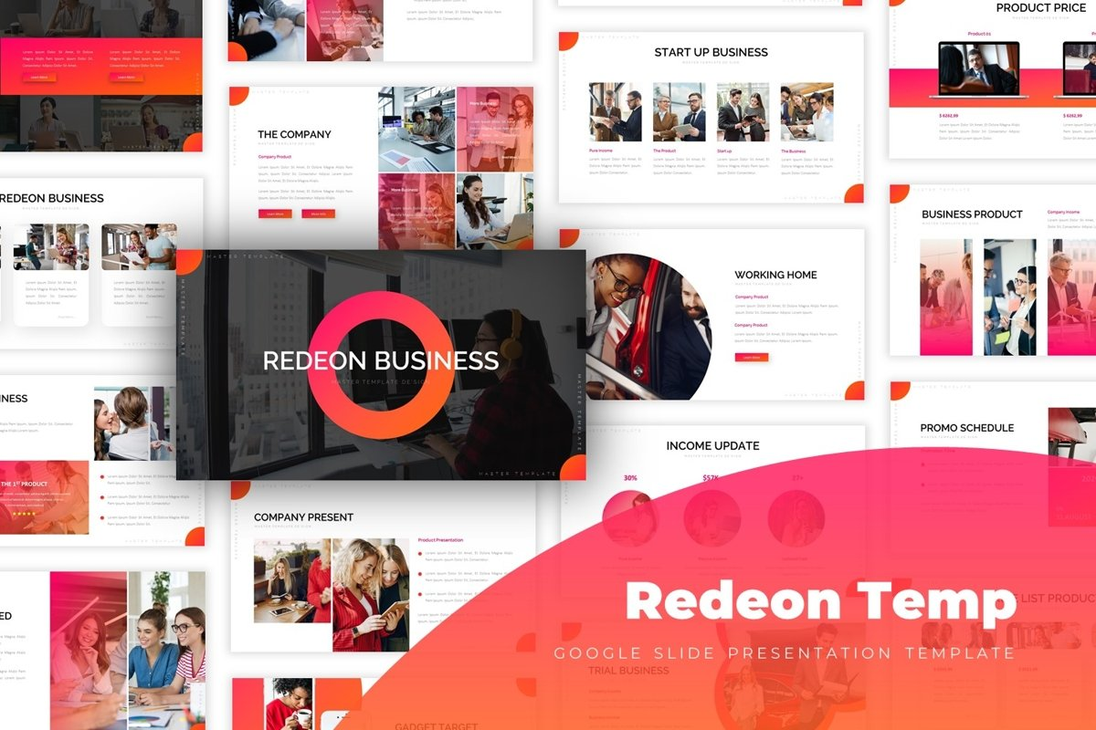 Redeon - Google Slide Template example image 1