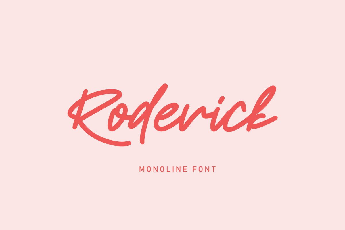 Roderick | Monoline Font example image 1