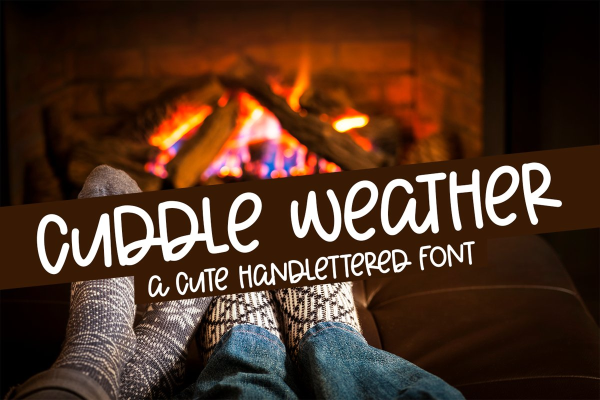 Cuddle Weather - A Cute Hand-Lettered Font example image 1