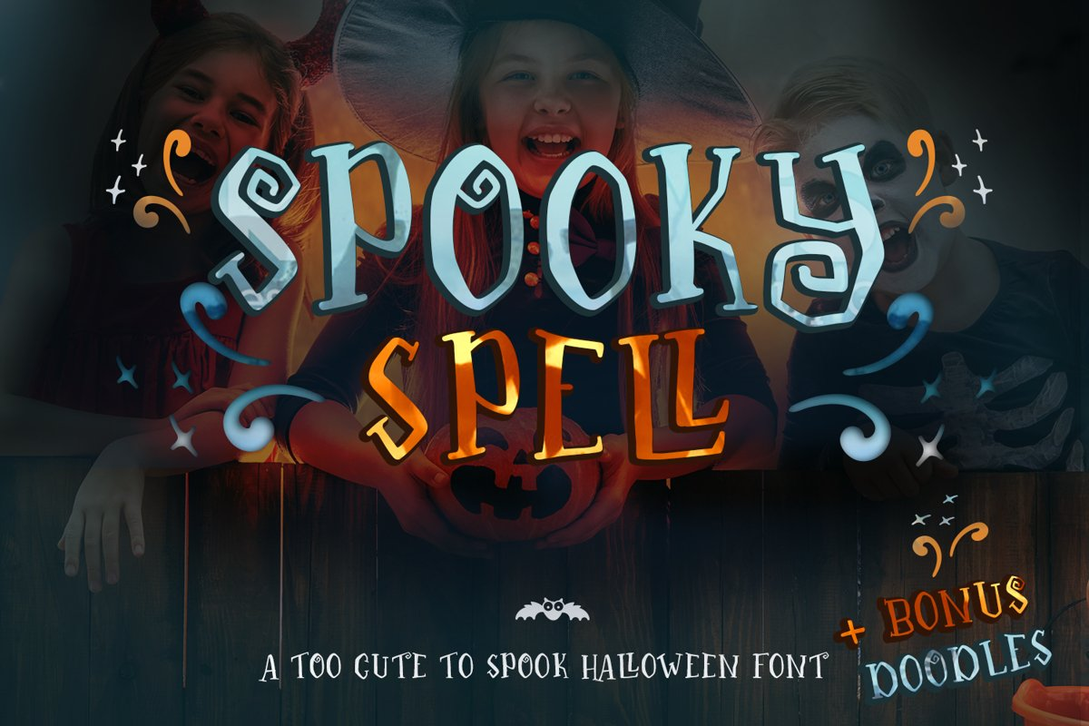 Spooky Spell Font - A Halloween Crafters Font with Doodles example image 1