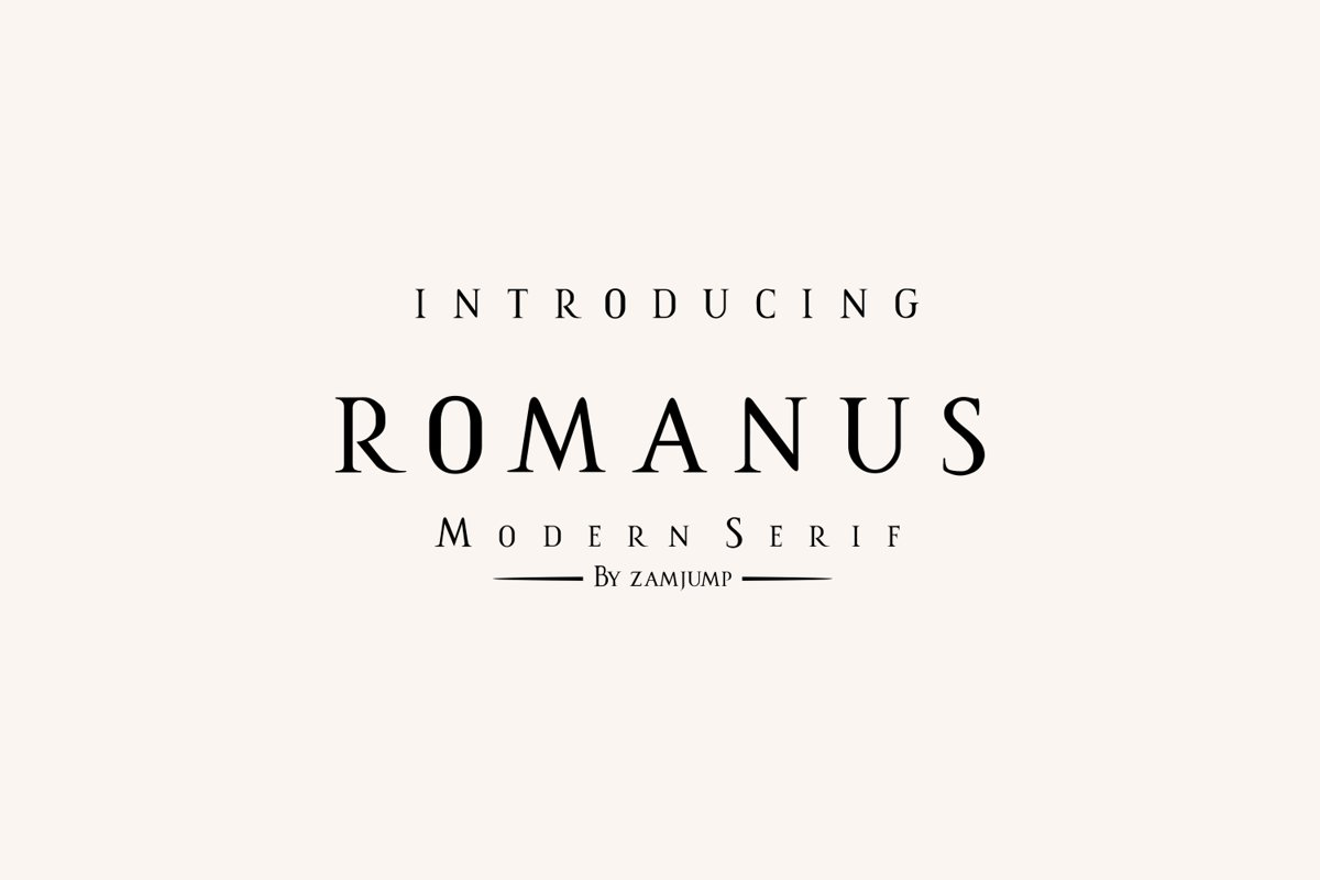 Romanus romance serif example image 1
