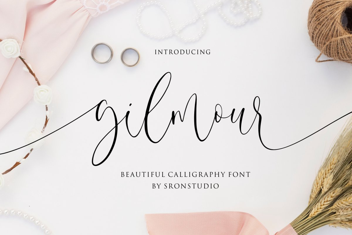 Gilmour - Beautiful Calligraphy example image 1