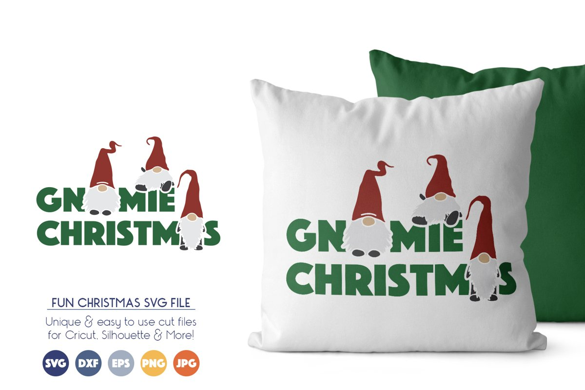 Fun Christmas SVG Cut Files - Gnomes SVG example image 1