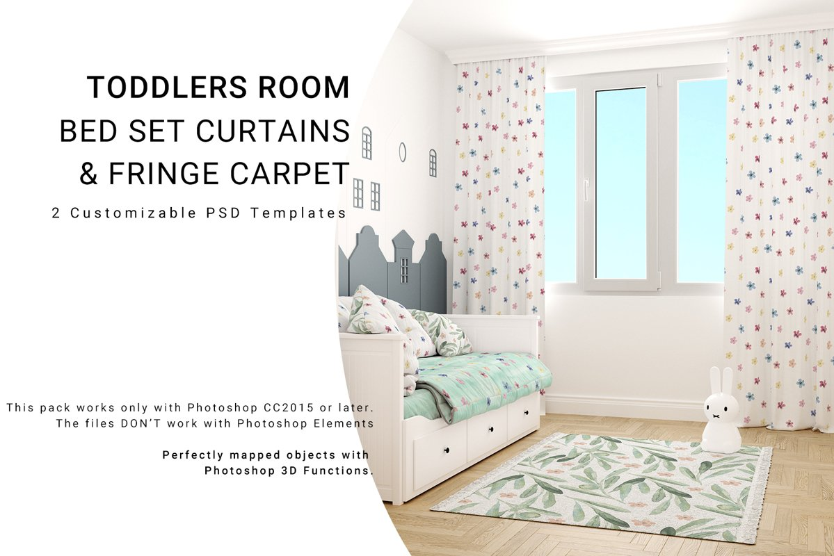 Toddlers Room Textile - Bedding, Curtains & Carpet Set example image 1