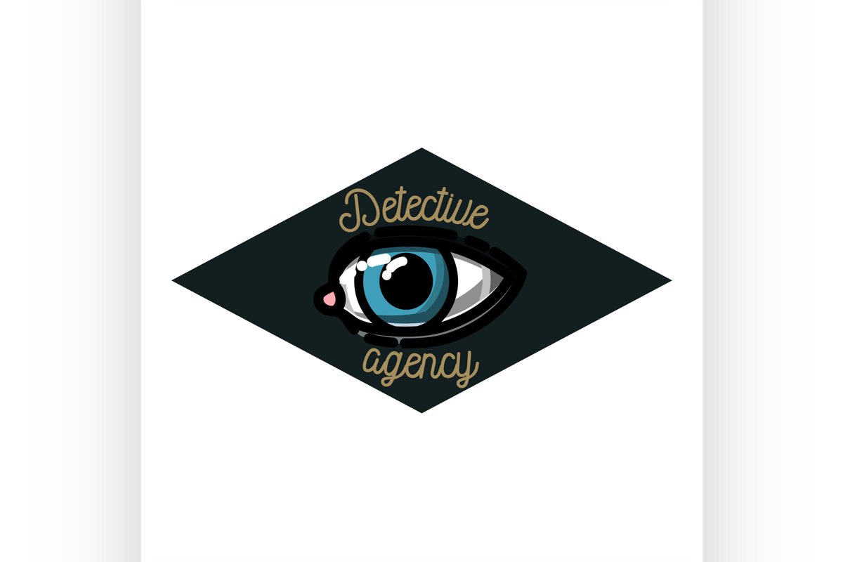 Color vintage detective agency emblem example image 1
