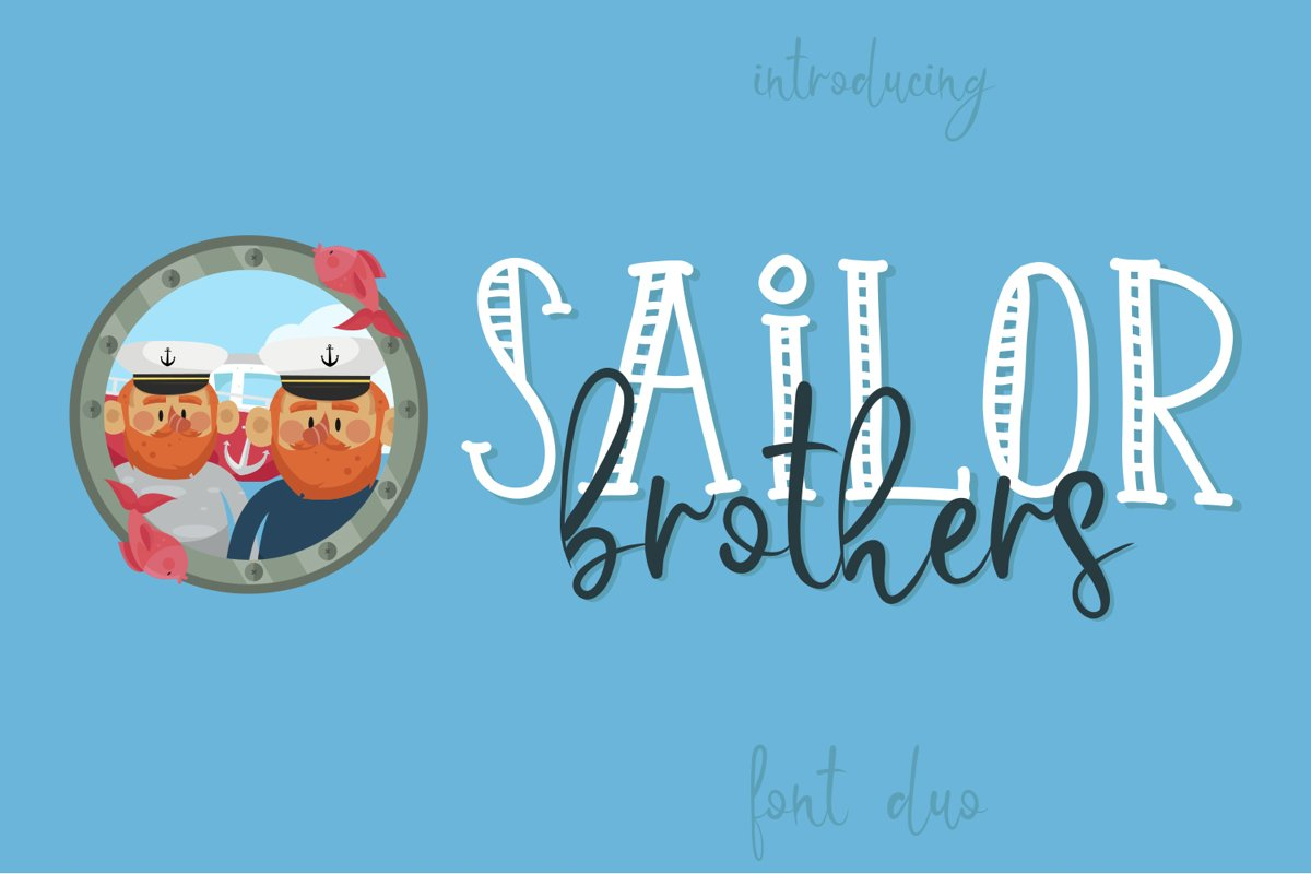 Sailor Brothers Font Duo example image 1