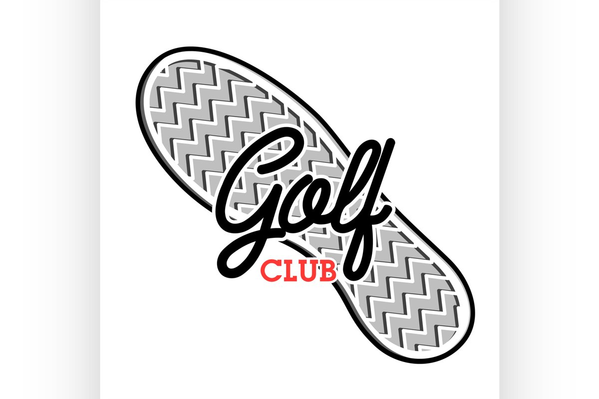 Color vintage golf club emblem example image 1