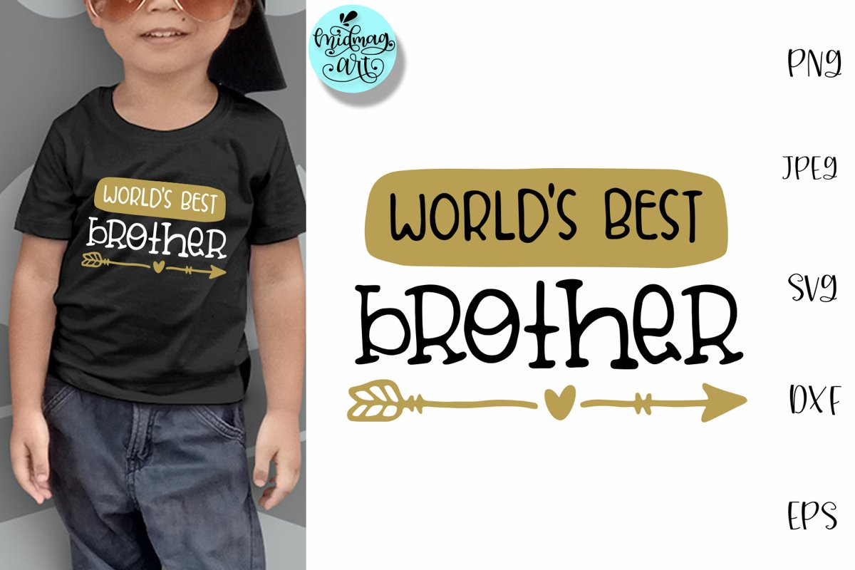 World's best brother svg, brother shirt svg example image 1