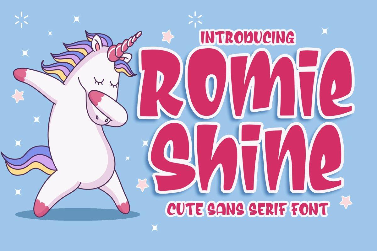Romie Shine - a Cute Sans Serif Font example image 1