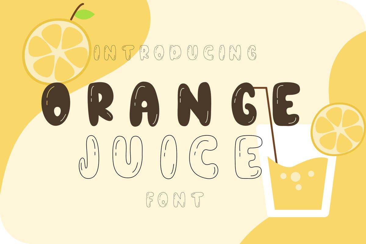 Orange juice playful font example image 1