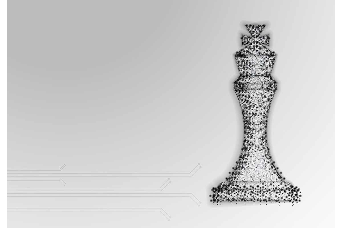 Chess King. Abstract Low Poly Design. Strategy Concept. From example image 1