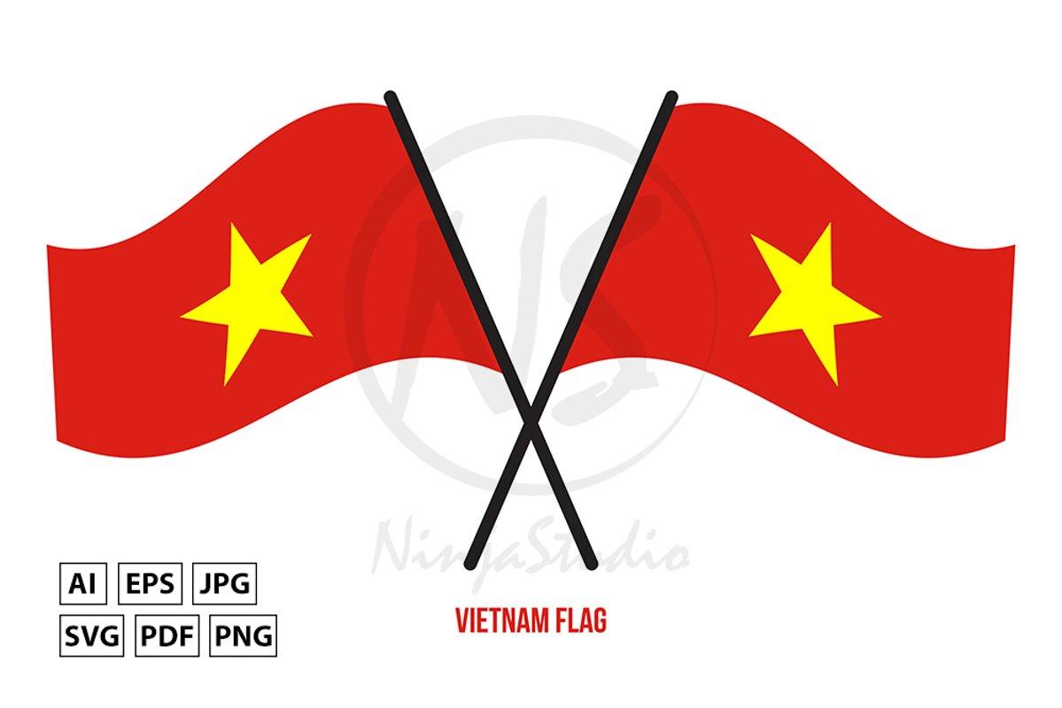 Vietnam National Flag Waving Vector Illustration 741162 Illustrations Design Bundles